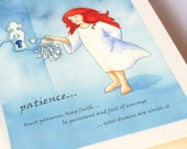 Patience Blank Greeting Card - be patient, persistent and full of courage as you dance towards your dreams