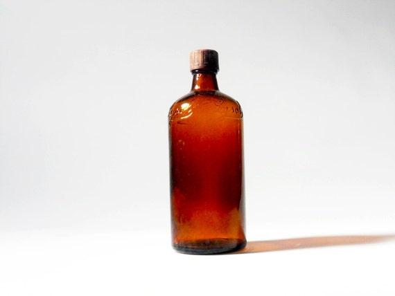 Vintage Lysol Bottle, Vintage Amber Bottle, Vintage Brown Bottle, Vintage Lysol, Antique Lysol Bottle,