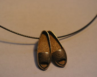 Cute slippers necklace