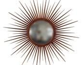 Star burst mohogany mirror