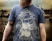 Flagship Tee in Deep Sea Blue Size Large