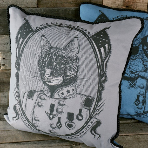 A House Divided Pillow (Double-sided Cat/Dog)