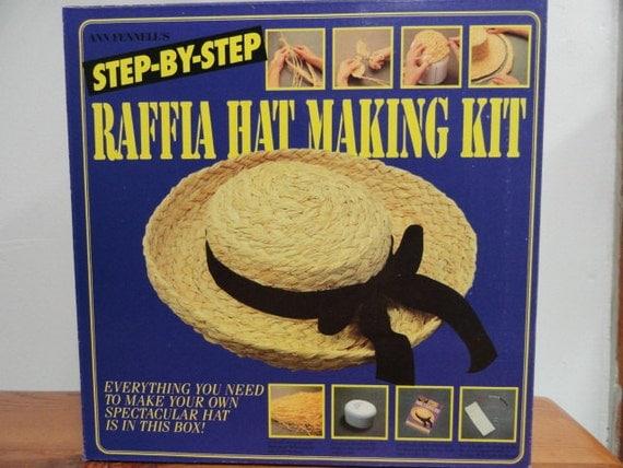 Raffia Hat Making Kit, How to make your own Raffia Hat, Straw Hat Kit