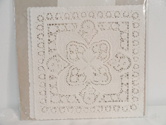 Paper Lace Doilies, White Square Doilies, Paper Crafts, Wedding Supplies