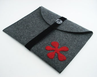 iPad, Playbook or Xoom Journal Style Case - Charcoal - Landscape