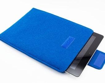 iPad, Playbook or Xoom Sleeve - 100% Merino wool - Teal - Portrait