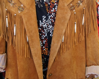 1980's Patricia Wolf Suede Jacket with Fringe from Texas