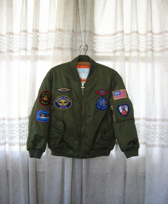 80s pilots winter bomber jacket by flightline by for Air force decoration writing guide