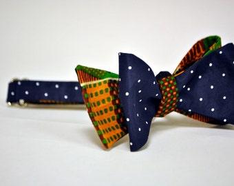 Kibwana Kente and Polka Dot Bow Tie