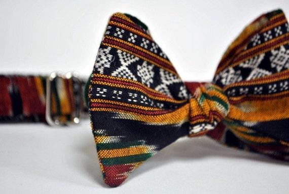 Sunset Ethnic Print Bow Tie