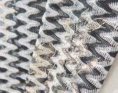 OLA Summer Scarf // Missoni Knit // Corfu B&W Glitter