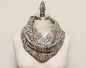 LARGE Missoni Knit Infinity Scarf // Tokyo Rainbow // by OLA