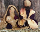 PDF Primitive Christmas Nativity E-pattern OFG  FAAP