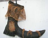 Pdf  Primitive Halloween Grungy Witch Boot Shoe E-pattern OFG FAAP