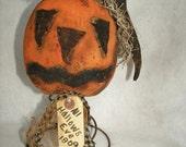 PDF Halloween Primitive Nook Pumpkin Nodder E-Pattern OFG Faap