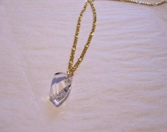 Swarovski Crystal Gold Chain Necklace