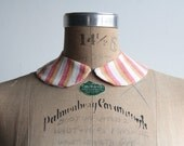 Circus Stripes Peter Pan Collar . Fabric Necklace . Detachable . MADE TO ORDER by Vera Vague