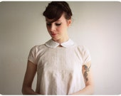 All White Peter Pan Collar . Fabric Necklace . Detachable Butterfly Collar. Made To Order by Vera Vague