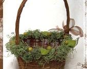 Woodland Whimsy Flower Girl Basket