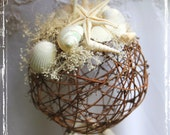 Seashell Wedding Pomander - Kissing Ball - Basket Alternative - Flower Girl