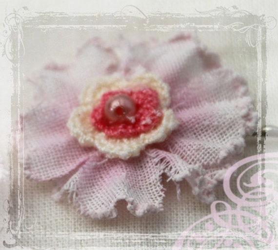 Потертый Chic бледно розовый заколками - Аксессуары для волос Blush - Свадьбы цветы Girl - Ткань Цветок - Марии Антуанетты-Гарден