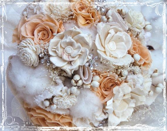 Шампанское и блеск букет невесты - Свадьба весна-лето - Альтернативная свадьба - Indie - ткань цветов