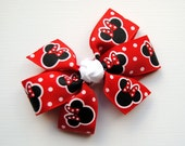 Red Polka Dot Minnie Mouse Hair Bow