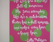 Lilly Pulitzer Inspired Quote Canvas