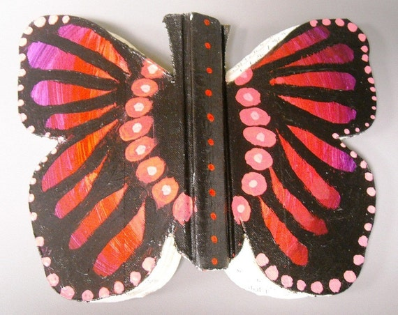 Butterfly Shaped Hardback Book for use as Altered Book
