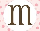 Girl Baby Shower Banner Letters - Pink and Brown - Printable PDF