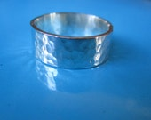 Sterling Silver band, hammered, sizes 5 to 13