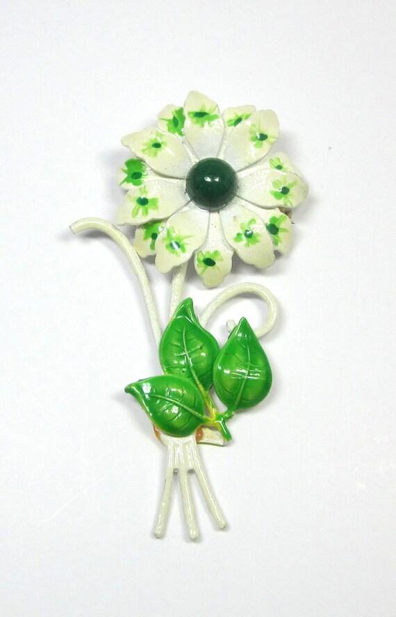 Vintage Enamel Flower - Enamel Flower - Signed West Germany - Hand Painted
