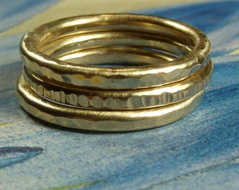 Heavy Gold Stacking Rings