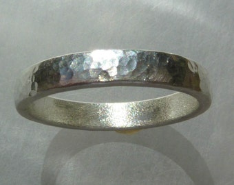 Sterling Silver Band - hand made, hand hammered