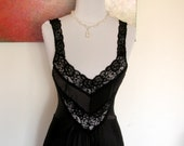 Vintage Undercover Wear Black Full Sweep Nigntgown