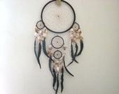 "Native Dream catcher sued leather with beads  10.5"" x 27"" (Dark Brown sued)"