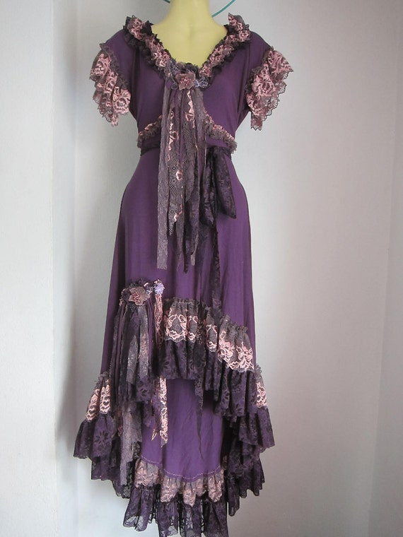 Reserved A Gorgeous Purple Bohemian Gypsy Dress With By