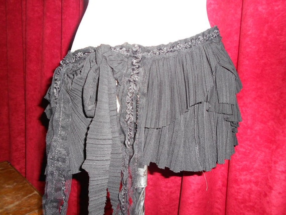 raggedy pleated bohemian gothic gypsy belt/tutu...
