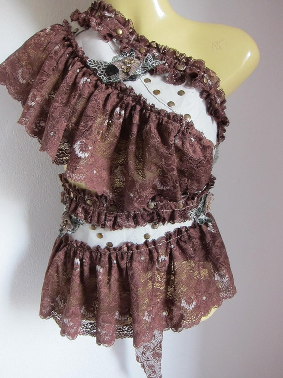 funky wrap belt/skirt...leather lace and studs