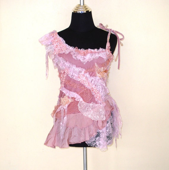 vintage inspired fairy top with shabby chic look....