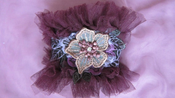 FREE POSTAGE...vintage  inspired leather and lace cuff with vintage motif...
