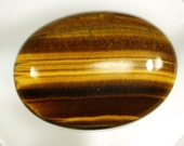 1 pc Tiger's Eye 30x40 mm oval cabochon