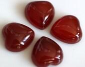 2 pcs 12 mm  agate Heart cabochon  120CB