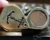 39 mm Handling Brass Magnifier Loupe pendant charms