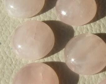 Pink Rose Quartz 2 pcs 14 mm Round cabochon  140CB