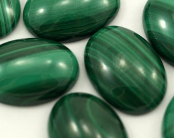 Malachite genuine cabochon 1 pc 13X18 mm