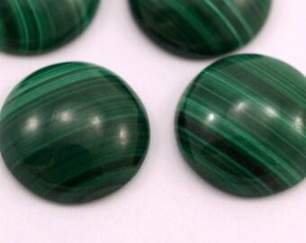 Malachite genuine cabochon 1 pc 16 mm 160CB