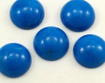 2 pcs 16 mm Turquoise Howlite round cabochon  160CB