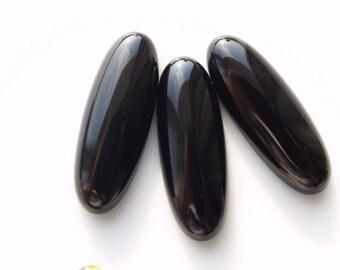 Onyx marquise Shape cabochons 10 pcs 8x22 mm
