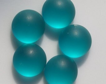 10 pcs 10 mm Frosted Light Green Chzech Glass Round Cabochons GILG10  100CB
